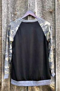The Ebony Camo Top