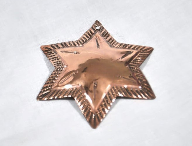 Copper Star Christmas Ornament
