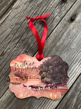 Christmas Blessings Western Christmas Ornament