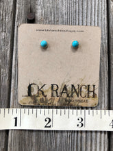 Load image into Gallery viewer, The Bitsy Turquoise Stud Earrings