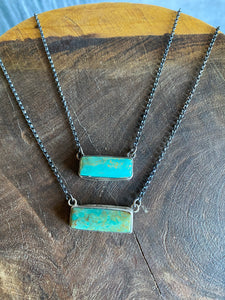 Sterling Turquoise Bar Necklaces