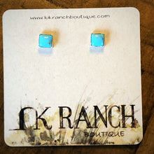 Load image into Gallery viewer, Rio Rancho Turquoise Square stud Earrings