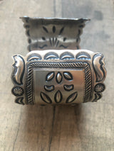 The Ada Hand Stamped Sterling Cuff