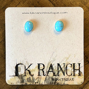 Corrales Turquoise Oval Earrings