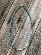 The Elena Turquoise & Pearl Beaded Necklace