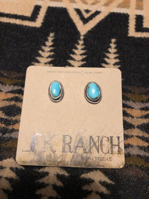 Cayson Turquoise Nugget Earrings