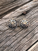 Load image into Gallery viewer, Rosette Sterling Silver Concho Earrings