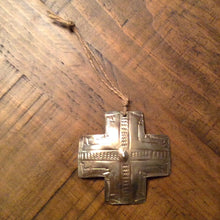 Load image into Gallery viewer, Silver Cross Christmas Ornament