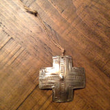 Silver Cross Christmas Ornament