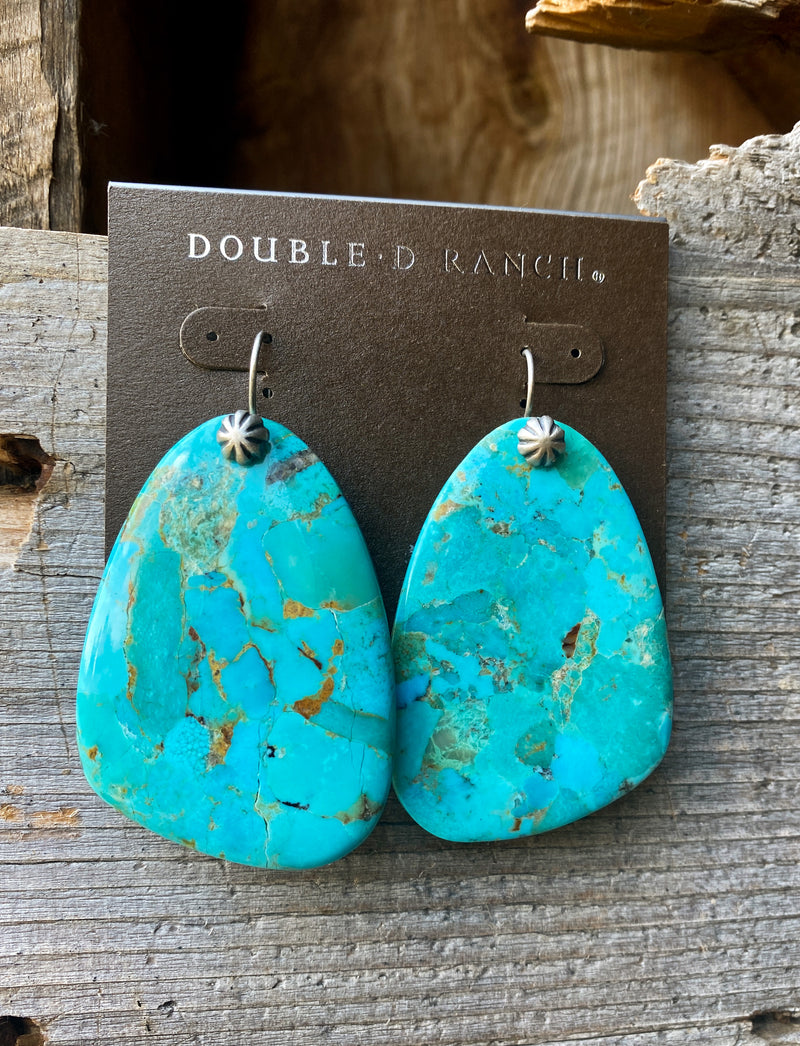 The Canyon Turquoise Slab Earrings