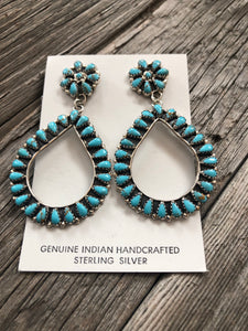 Turquoise Cluster Dangle Earrings