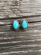 Load image into Gallery viewer, Cayson Turquoise Nugget Earrings