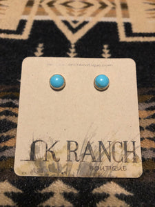 Mesilla Turquoise Stud Earrings