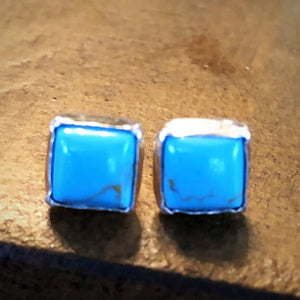 Rio Rancho Turquoise Square stud Earrings