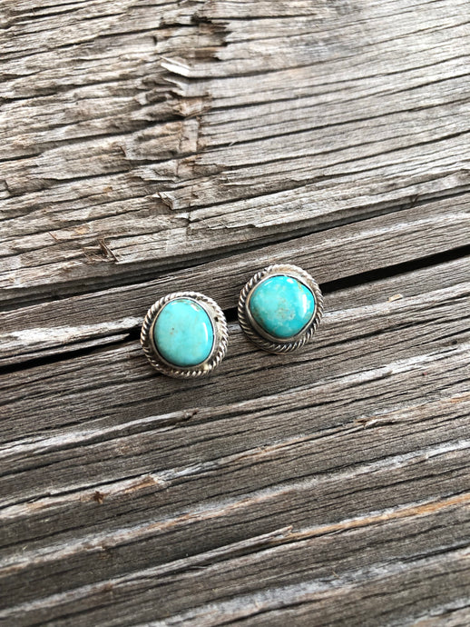 Carson Turquoise Nugget Earrings