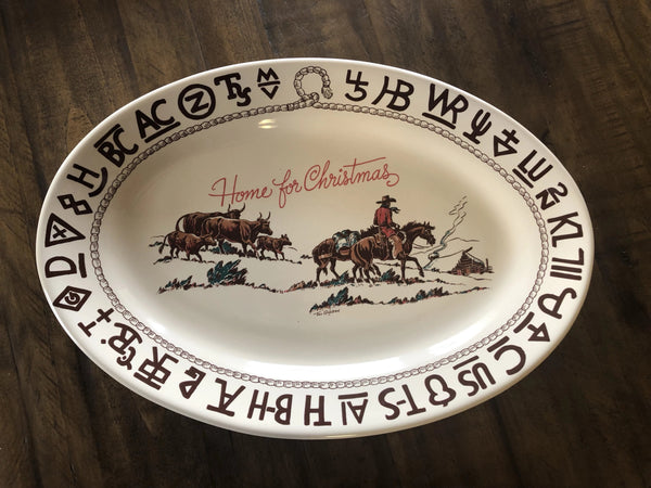 Home For Christmas Oval Platter