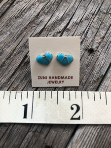 Oh My Heart Turquoise Inlay Earrings