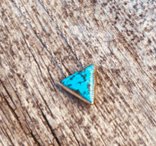 Load image into Gallery viewer, Turquoise Triangle Necklace