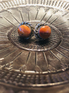 Becca Spiny Oyster Round Earrings
