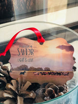 Light & Love Western Christmas Ornament