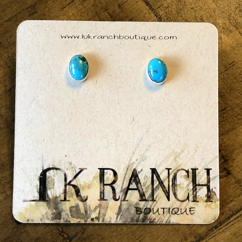 Tucumcari Turquoise Oval Earrings