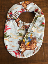Load image into Gallery viewer, Out On the Range Western Baby Bib & Pacifier Clip