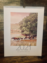 Western Wall Calender with Horses 2021