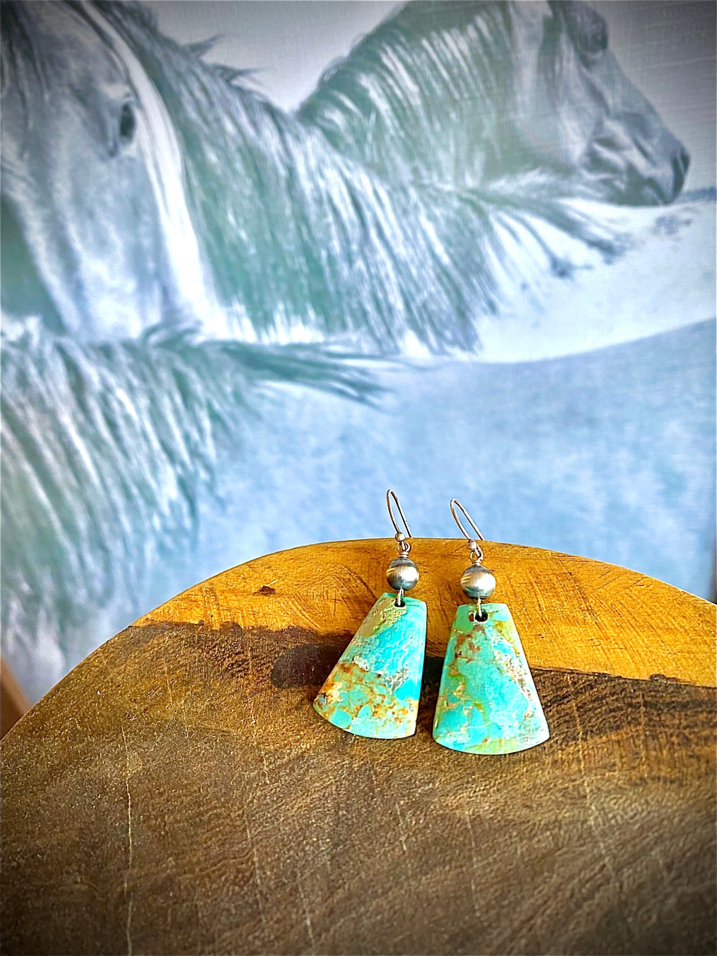 The Shanna Turquoise Slab Earrings