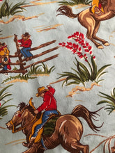 Load image into Gallery viewer, Out On The Wagon Western Baby Blanket