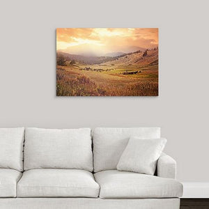 Red Rock Trail Western Cowboy Canvas Wall Art Decor