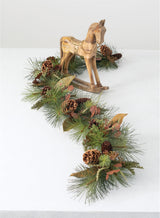 Sculpted Pine Rocking Horse