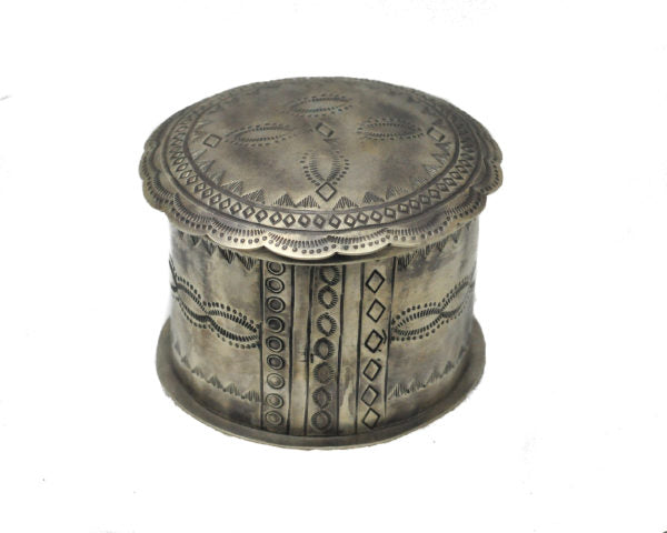 Silver Stamped Jewelry Box