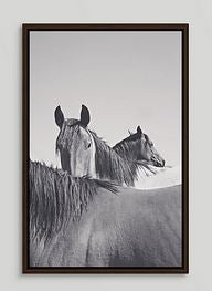 Trio Caballos Framed Horse Canvas