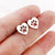 Women's Hollow Heart-Paw Stud Earrings