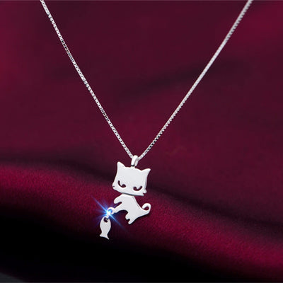 Women's Cat-Fish Pendant Necklace