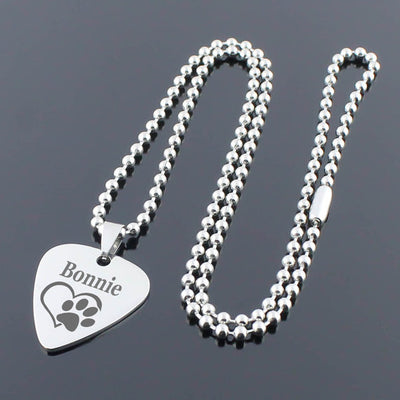 Personalized Heart Pedant Necklace