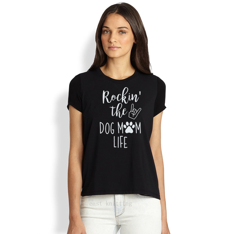 Women's Printed Short-Sleeve Tee - Rockin' The Dog Mom Life