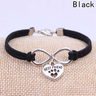 Women's Heart-Paw Charm Bracelet - ''Best Friend''