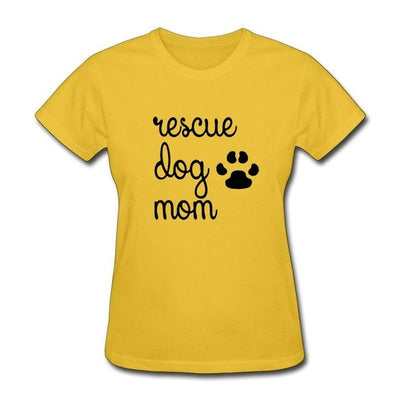 Women's Paw Print Tee - ''Rescue Dog Mom''