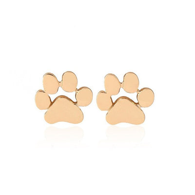 Women's Paw Stud Earrings