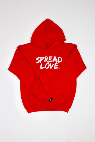 Spread Love Youth hoodie- Red