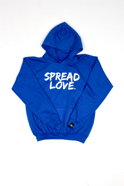 Spread Love Youth Hoodie- Blue
