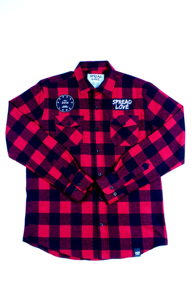 Spread Love Unisex Flannel Long Sleeve