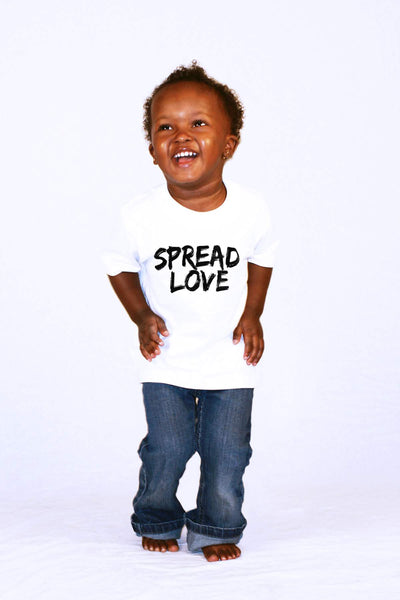 Spread Love Toddler White