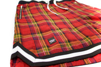 SL- Unisex Plaid Zip Pocket Basketball Short