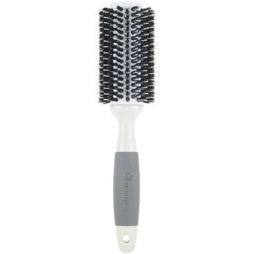 Solid Barrel Mixed Bristle Round Hair Brush The Salon Project