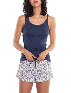 PAPINELLE BASIC COTTON MODAL SINGLET - NAVY