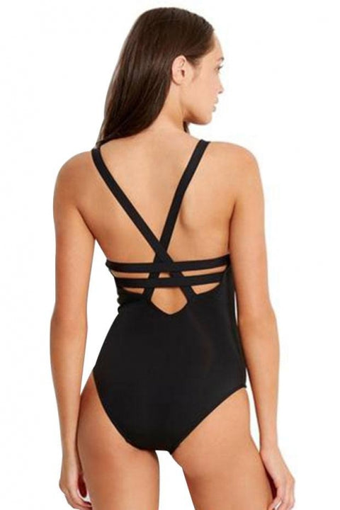SEAFOLLY ACTIVE DEEP V MAILLOT ONE PIECE - 10634-058