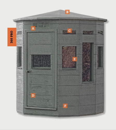360 Pro Series Blind - 6x6 Bow/Gun Blind