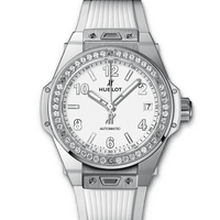 HUBLOT Watches One Clic Steel White Diamonds 465.SE.2010.RW.1204 Discount by ZAPANDA.com